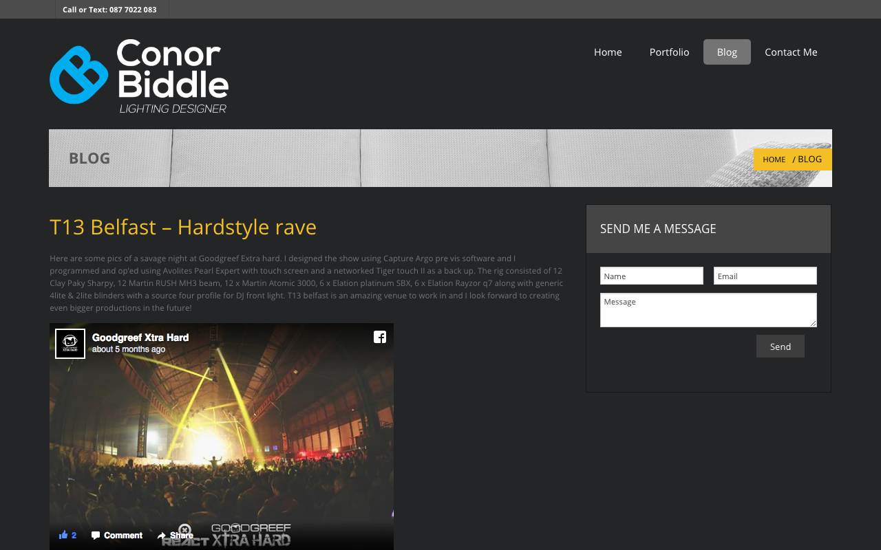Conor Biddle Website Screenshot – 3